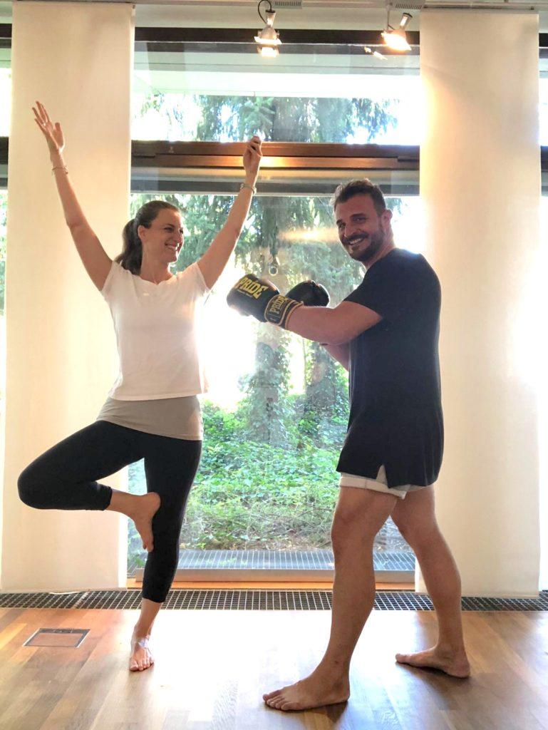 Eva und Seppi beim Training